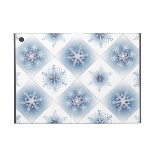 Funkelnd blaue Schneeflocken iPad Mini Schutzhülle