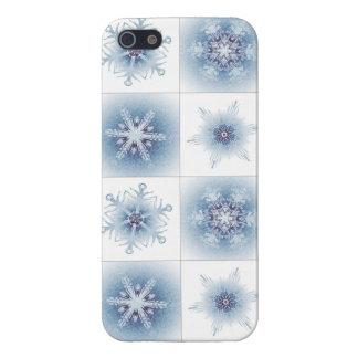 Funkelnd blaue Schneeflocken Schutzhülle Fürs iPhone 5