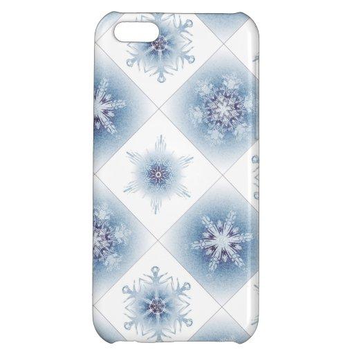 Funkelnd blaue Schneeflocken Hüllen Für iPhone 5C