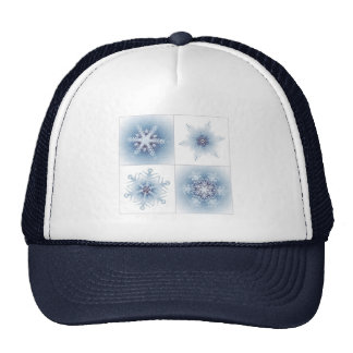 Funkelnd blaue Schneeflocken Kult Cap