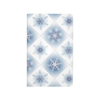 Funkelnd blaue Schneeflocken Tagebuch