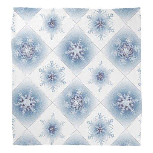 Funkelnd blaue Schneeflocken Halstuch