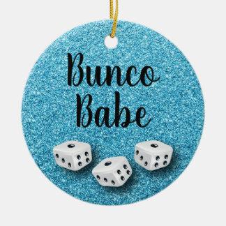 Funkelnd Bunco Baby-Imitat-blauer GlitzerChic Keramik Ornament