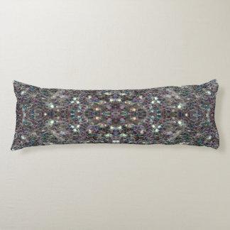 Funkelnd bunter silberner Mosaik Mandala Seitenschläferkissen