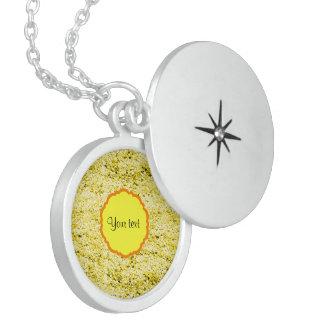 Funkelnd gelber Glitter Sterling Silberkette