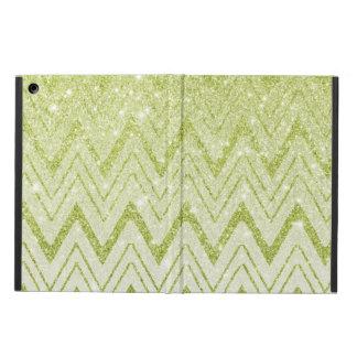 Funkelnd grüner Glitter-Zickzack Muster