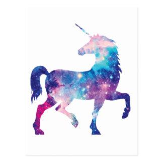 Funkelnd magischer Unicorn Postkarte