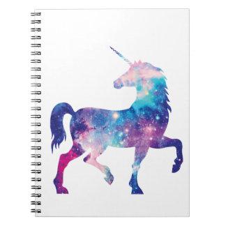 Funkelnd magischer Unicorn Spiral Notizblock