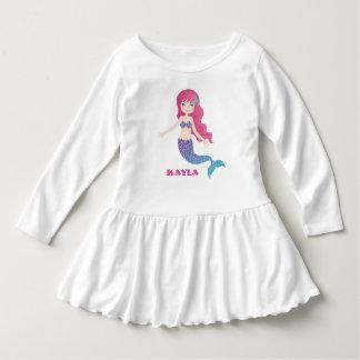 Funkelnd Meerjungfrau - rosa Türkis Kleid