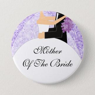 Funkelnd Mutter des Braut-Knopfes/des Buttons lila