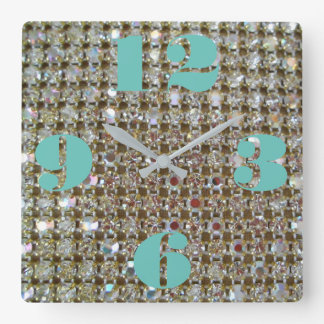 Funkelnd quadratische Wand-Uhr Quadratische Wanduhr