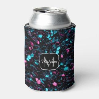 Funkelnd rosa blaues Mosaik-Glitter-Glitzern Dosenkühler