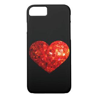 Funkelnd roten Herz Valentines iPhone 8/7 Hülle