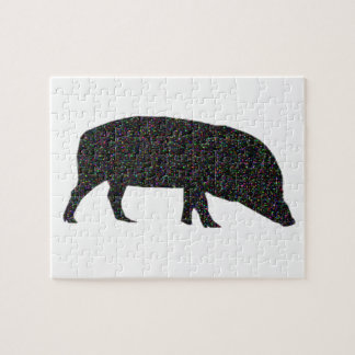 Funkelnd Schwein-Puzzlespiel Puzzle