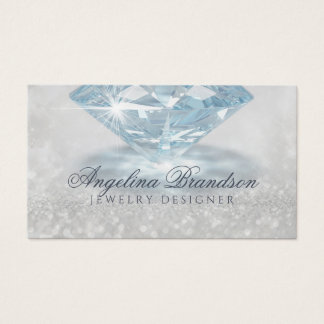 Funkelnde Diamant-Juwelier-Schmuck-Designer-Karte Visitenkarte