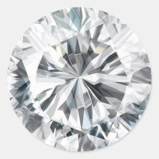 Funkelnde Diamantbeschaffenheit April Birthstone Runder Aufkleber