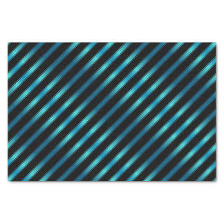 Funkelnde metallische blaue diagonale Streifen Seidenpapier