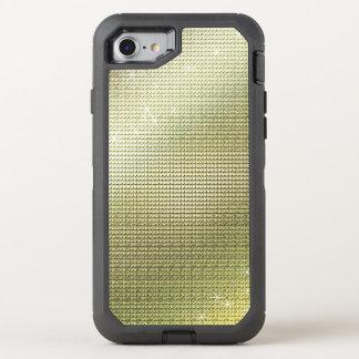 Funkelnde metallische goldene Paillette OtterBox Defender iPhone 8/7 Hülle