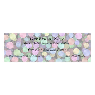 Funkelnde Regenbogen-Tupfen Jumbo-Visitenkarten