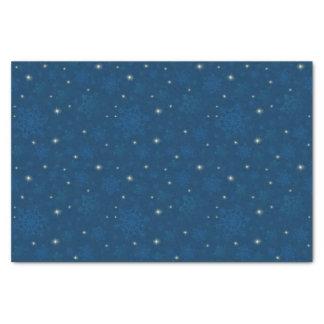 Funkelnde Schneeflocken u. Starlight Seidenpapier