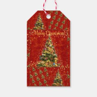 Funkelnde Weihnachtsbaum-Geschenk-Umbauten Geschenkanhänger