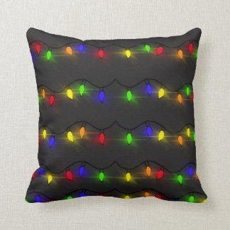 Funkelnde Weihnachtslichter Kissen