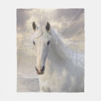 Funkelnde weißes PferdeFleece-Decke Fleecedecke