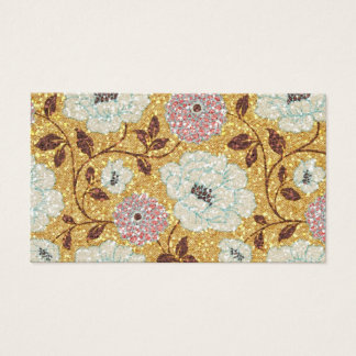Funkelnder Fall-Blumenbrokat-Tapisserie Visitenkarte