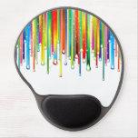 Funkelnder flüssiger Regenbogen Gel Mouse Matten