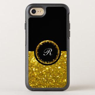 Funkelnder GoldGlitter Bling Entwurf OtterBox Symmetry iPhone 8/7 Hülle