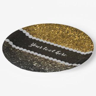 Funkelnder Ombre Glitter Pappteller