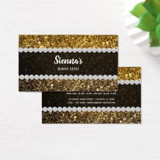 Funkelnder Ombre Glitter Visitenkarte