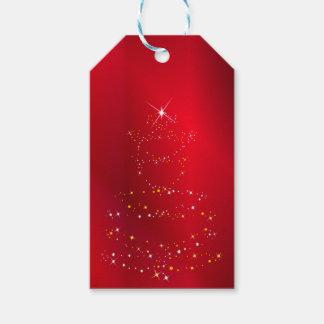 Funkelnder Weihnachtsbaum-Hintergrund Geschenkanhänger
