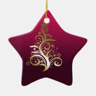Funkelnder Weihnachtsbaum Keramik Ornament