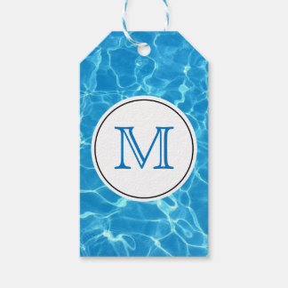 Funkelndes blaues Swimmingpool-blaues Geschenkanhänger