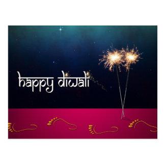 Funkelndes glückliches Diwali - Postkarte