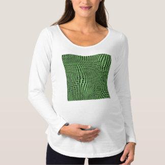 Funkelndes Metallnetz, grün Schwangerschafts T-Shirt