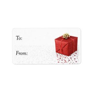 Funkelndes Weihnachtsgeschenk - Geschenk-Umbau Adressaufkleber