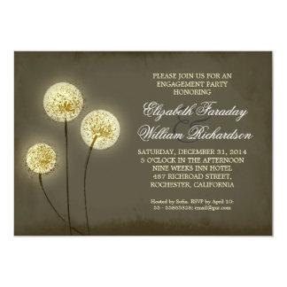 Funkelnlöwenzahn-Verlobungs-Party Einladungen