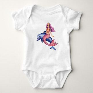 Funkelnmeerjungfrau Aubrey - Babybodysuit Baby Strampler