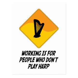 Funktion ist für Leute, die nicht Harfe spielen Postkarte