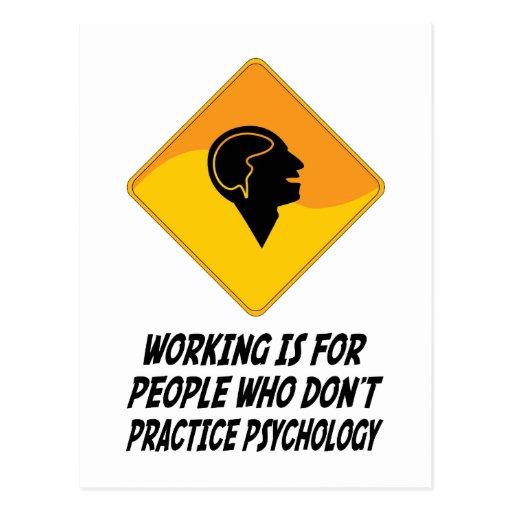 Funktion ist für Leute, die nicht Psycholog üben Postkarten