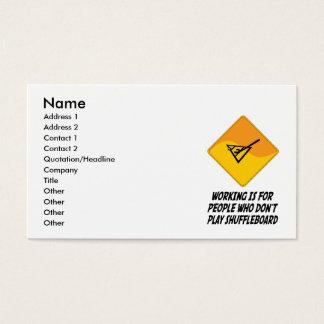 Funktion ist für Leute, die nicht Shuffleboard Visitenkarte