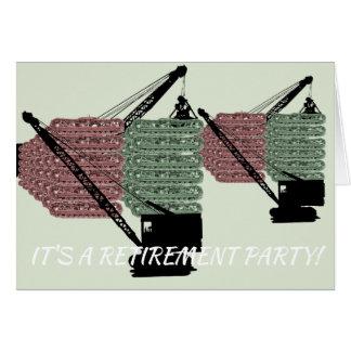 Funktionierende Ingenieur-Ruhestands-Party Karte