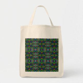 Funky abstraktes Neonpsychedelisches Einkaufstasche