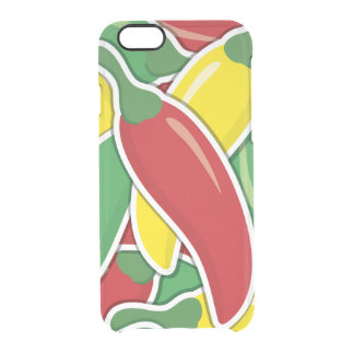 Funky Ampel-Paprika-Paprikaschoten Durchsichtige iPhone 6/6S Hülle