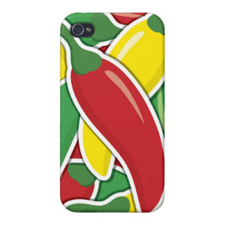 Funky Ampel-Paprika-Paprikaschoten iPhone 4 Hüllen