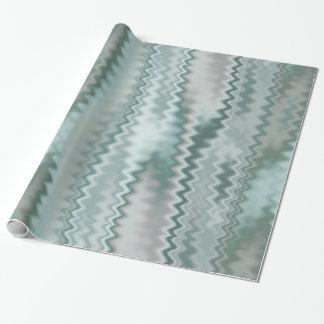 Funky Aqua-gelegentliches Zickzack-Fraktal-Muster Geschenkpapier