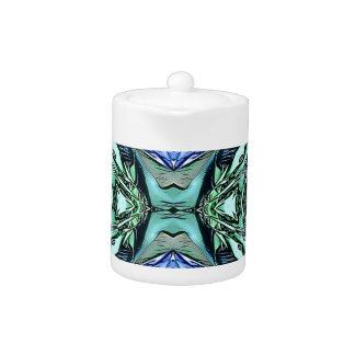 Funky aquamarines lila künstlerisches Muster