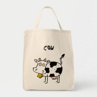 Funky Bauernhof-Kuh-Lebensmittelgeschäft-Taschen-T Einkaufstasche